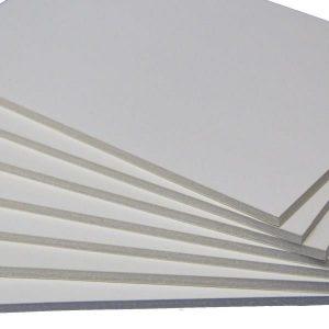 White regular foam core board