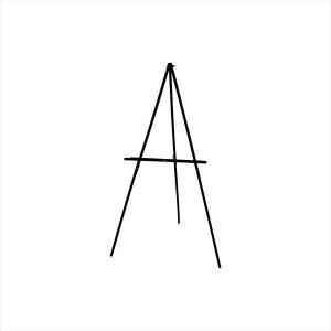 ArtAdvantage_Black_Floor_Display_Easel