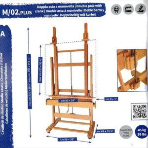 Mabef_Double_mast_Studio_Easel_M02