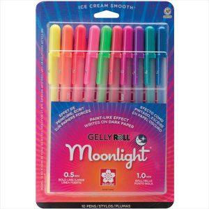 Sakura 10 pack gelly rolls moonlight pen set