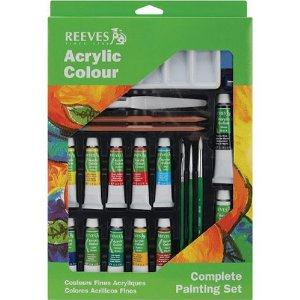 Reeves Acrylic Color Complete Painting Set