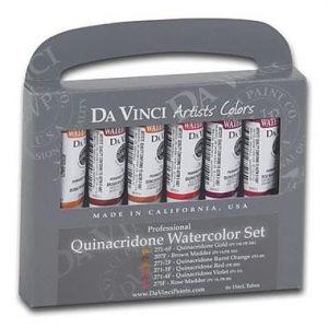 Da Vinci Quinacridone Watercolor set 6 pack