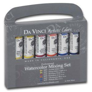 Da Vinci Watercolor mixing set of 6