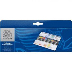 Winsor Newton Cotman Blue Box 12 Half Pans