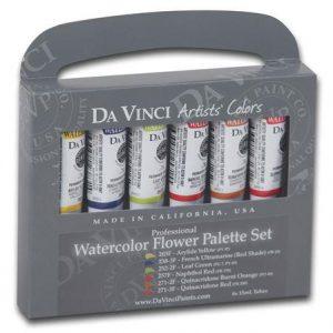 Da Vinci watercolor flower palette set