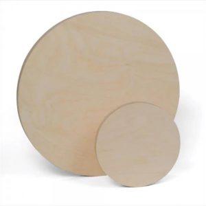 Round Birch Painting Panels