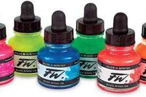 FW Fluorescent Acrylic Ink