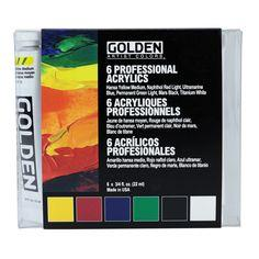 Golden 6 Professional heavy body acrylic set 22ml