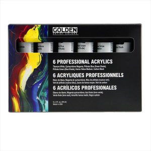 Golden 6 Professional heavybody acrylic set 59ml 6 pack
