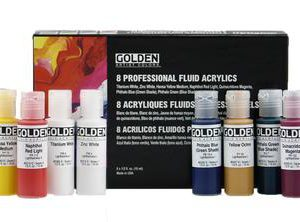 Golden Professional Fluid Acrlyic Set 15ml 8 pack