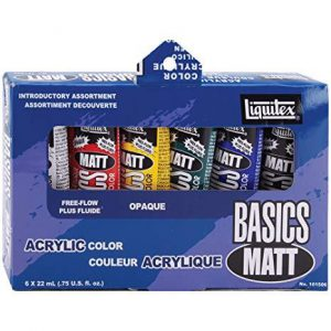 Liquitex basics matt acrylic color set 6 pack