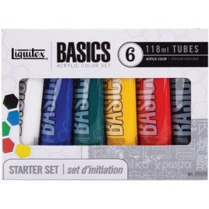 Liquitex basics starter set 6x118ml tubes