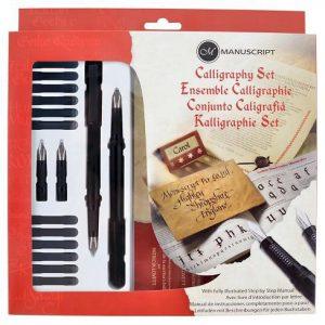 Manuscript calligraphy set of 4 nibs