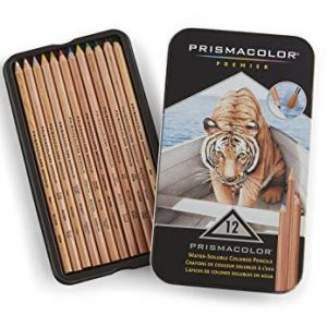Prismacolor water soluble coloured pencils 12 pack