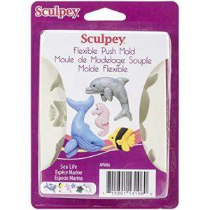 Sculpey flexible push mold sea life