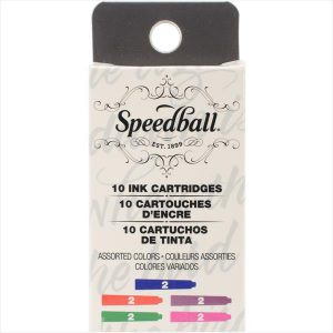 Speedball assorted color ink cartridges 10 pack