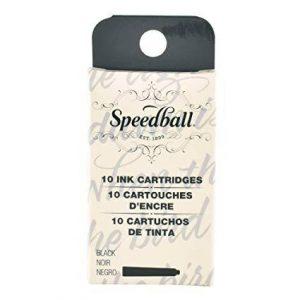 Speedball Black Ink Cartridges 10 Speedball Black Ink