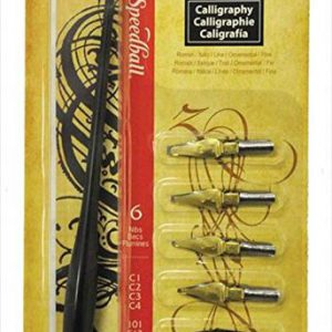 Speedball Caligraphy lettering set of 6 nibs