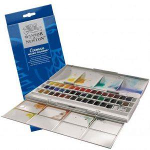 Winsor Newton Watercolor Half Pan Studio Set
