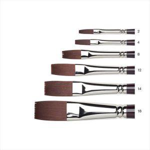 Winsor Newton Galeria Flat Brushes