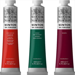 Winsor Newton Winton Oil Color tubes 200ml
