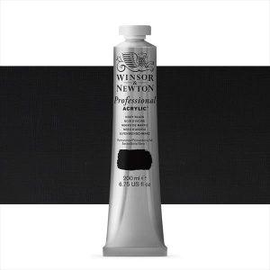 Winsor Newton Artist Acrylic Ivory Black 500ml tubes
