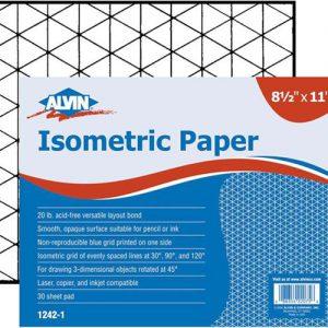 Alvin Isometric paper 8.5x11
