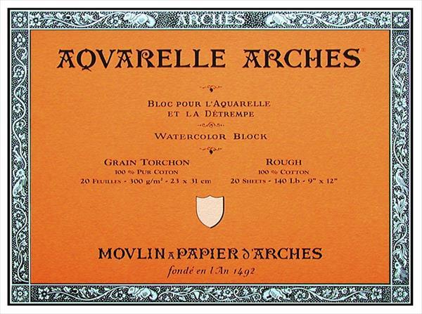 Arches Rough Grain Block Watercolor