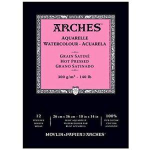 Arches Watercolor pad hot press 12 sheets