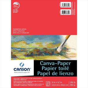 Canson Foundation Series Canva Paper pad 10 sheets