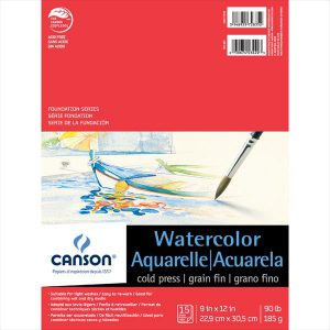 Canson Foundation Series Watercolor Pads 90lbs 15 sheets