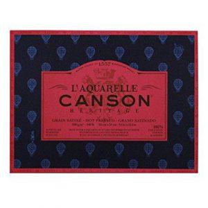 Canson l'aquarelle watercolor blocks hot press cold press