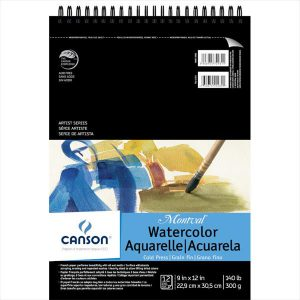 Canson montval watercolor pad 140lbs 21 sheets
