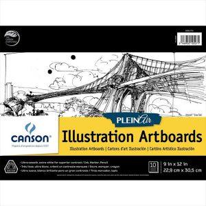 Canson Pleinair illustartion artboards