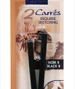Conte Caryons Pack of 2 Black Conte