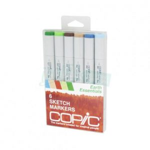 Copic sketch markers earth essentials set of 6