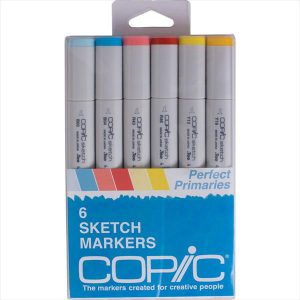 Copic Sketch Markers Perfect primaries 6 set
