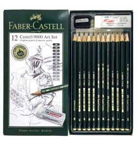 Faber-Castell 9000 Art Set 12 pack graphite