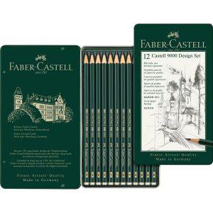 Faber-Castell 9000 Design Set 12 Pack Graphite