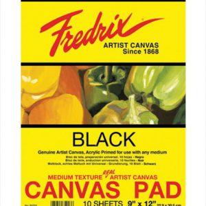 Fredrix canvas pad black sheets