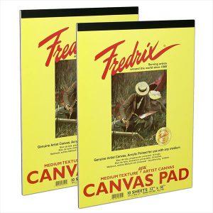 Fredrix White Canvas pad 10 sheets