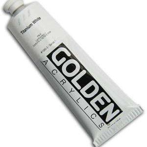 Golden Heavy Body artist acrylic titanium tubes
