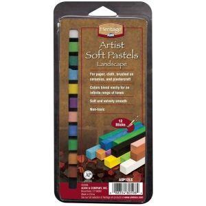Heritage Artist Soft Pastels Landscape 12 pack