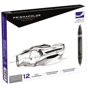 Prismacolor Premier 12 set neutral chisel/fine set