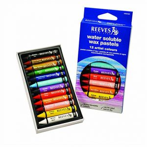 Reeves water soluble wax pastel set of 12 pack