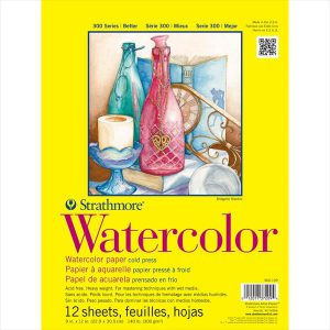 Strathmore 300 Series watercolor pads 12 sheets