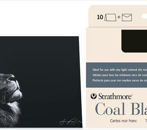 Strathmore Coal Black Cards 10 Pack