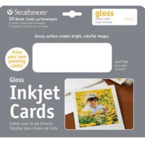 Strathmore Inkjet Cards Gloss 10 Pack
