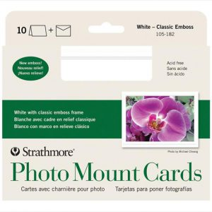 Strathmore Photo Mount Cards White 10 pack