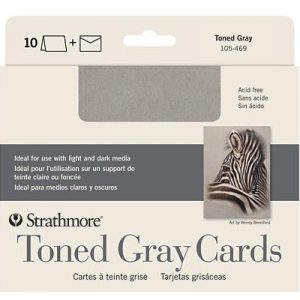 Strathmore Toned Gray Cards 10 Pack